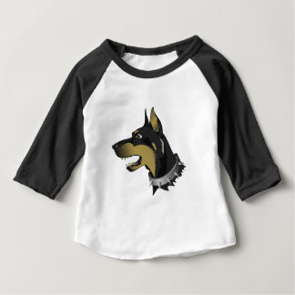 96Angry Dog _rasterized Baby T-Shirt