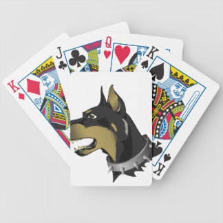 96Angry Dog _rasterized Bicycle Playing Cards