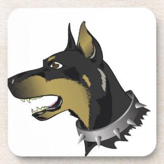 96Angry Dog _rasterized Coaster