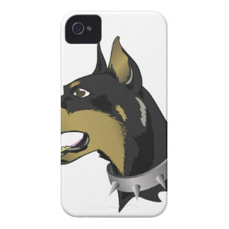 96Angry Dog _rasterized iPhone 4 Covers