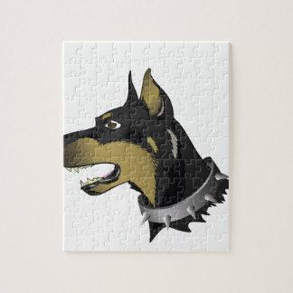 96Angry Dog _rasterized Jigsaw Puzzle