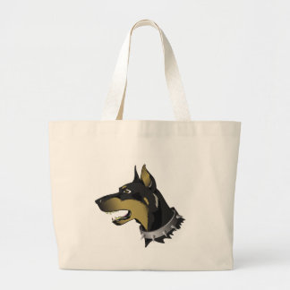 96Angry Dog _rasterized Large Tote Bag