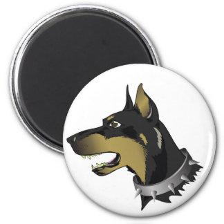 96Angry Dog _rasterized Magnet