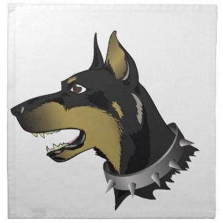 96Angry Dog _rasterized Napkin