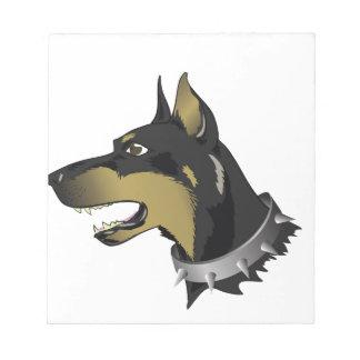 96Angry Dog _rasterized Notepad