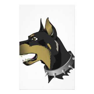 96Angry Dog _rasterized Stationery
