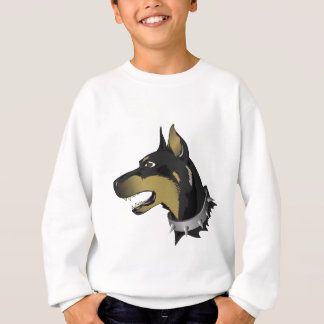 96Angry Dog _rasterized Sweatshirt