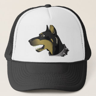 96Angry Dog _rasterized Trucker Hat
