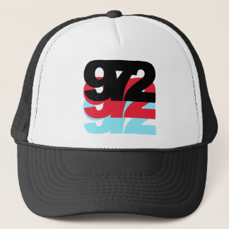 972 Area Code Trucker Hat