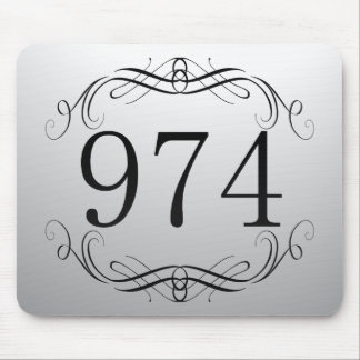 974 Area Code Mouse Pad