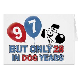 97 birthday design card