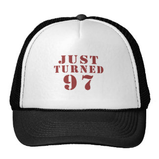 97 Just Turned Birthday Trucker Hat