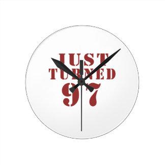 97 Just Turned Birthday Wallclocks