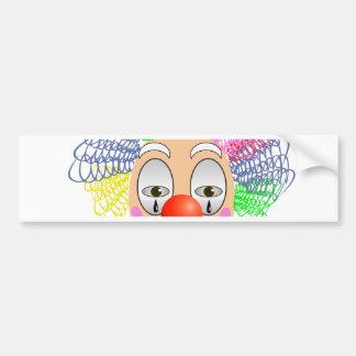 97Clown Head_rasterized Bumper Sticker