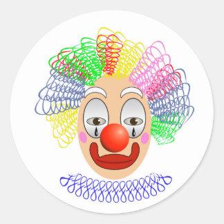 97Clown Head_rasterized Classic Round Sticker