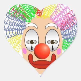 97Clown Head_rasterized Heart Sticker