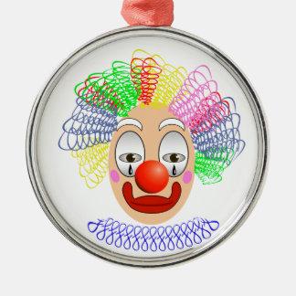 97Clown Head_rasterized Metal Ornament