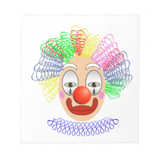 97Clown Head_rasterized Notepad