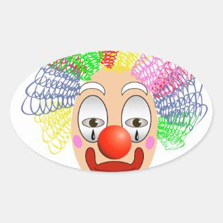 97Clown Head_rasterized Oval Sticker