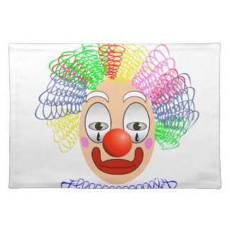 97Clown Head_rasterized Placemat