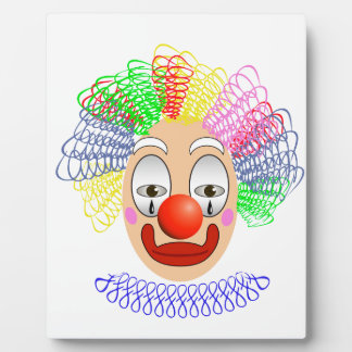 97Clown Head_rasterized Plaque