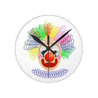 97Clown Head_rasterized Round Clock
