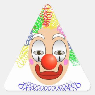 97Clown Head_rasterized Triangle Sticker