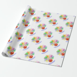 97Clown Head_rasterized Wrapping Paper