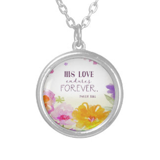 982.his love endures forever silver plated necklace