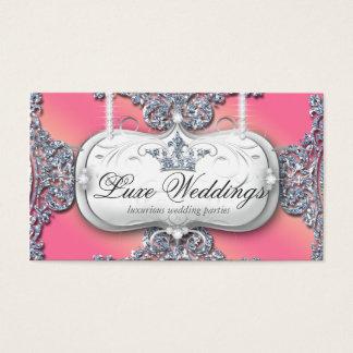 989 Fashion Jewelry Wedding Elegant Crown Glitter Business Card