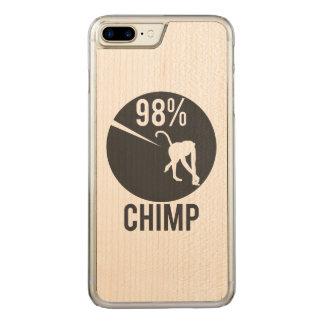 98% chimp carved iPhone 8 plus/7 plus case