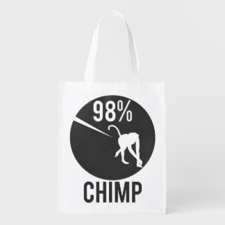 98% chimp reusable grocery bag