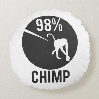 98% chimp round pillow