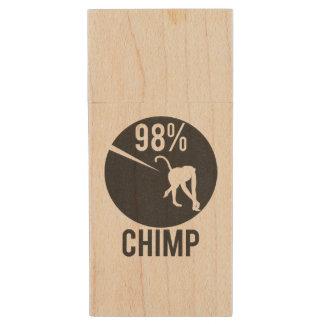 98% chimp wood USB flash drive