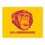 98% Chimpanzee Postcards
