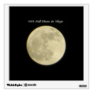 98% Full Moon In Virgo Wall Decal