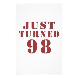 98 Just Turned Birthday Stationery