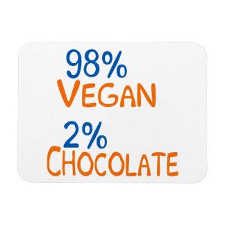 98 Percent Vegan Rectangular Photo Magnet