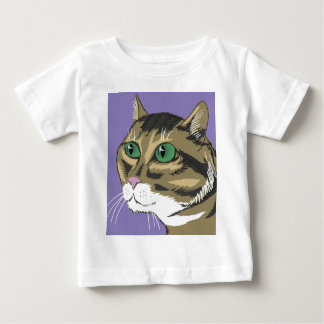 98Cat Head_rasterized Baby T-Shirt