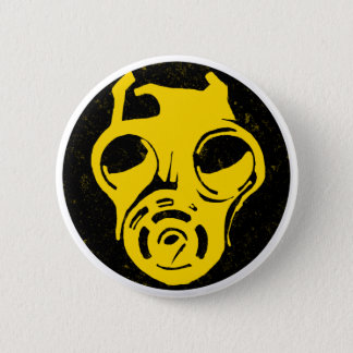 999 Gas Mask Design 2 Inch Round Button