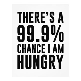 99.9 Chance I'm Hungry Letterhead
