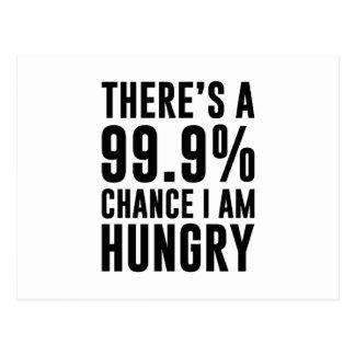 99.9 Chance I'm Hungry Postcard