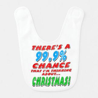 99.9% CHRISTMAS (blk) Bib