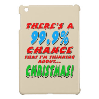 99.9% CHRISTMAS (blk) Cover For The iPad Mini