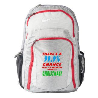 99.9% CHRISTMAS (wht) Backpack