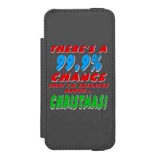 99.9% CHRISTMAS (wht) Incipio Watson™ iPhone 5 Wallet Case