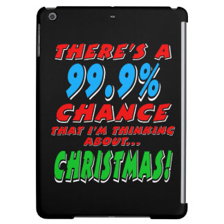 99.9% CHRISTMAS (wht) iPad Air Cover