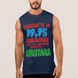 99.9% CHRISTMAS (wht) Sleeveless Shirt