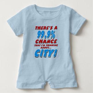 99.9% CITY (blk) Baby Romper