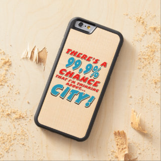 99.9% CITY (blk) Carved Maple iPhone 6 Bumper Case